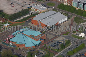 Birkenhead aerial photograph of Europa Pools and Vue Cinemas Clwyd Street Wirral