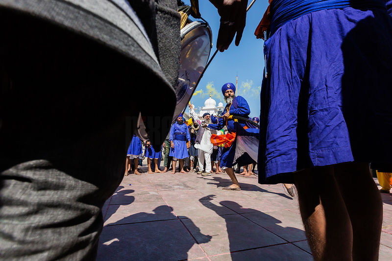 Nihang Sikhs Show their Fighting Skills During the Festival of Holla Mohalla