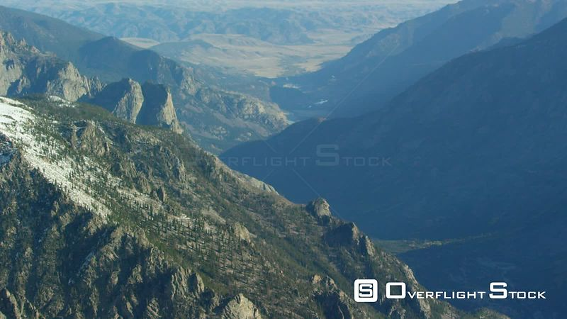 A glacial valley sits on the edge of the Beartooth mountain Range, in southwestern Montana