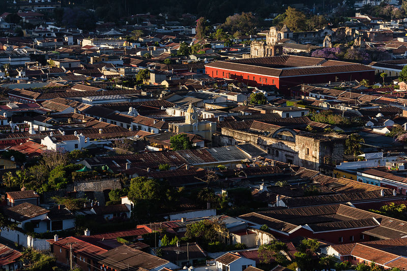Elevated View of the Old City of Antigua