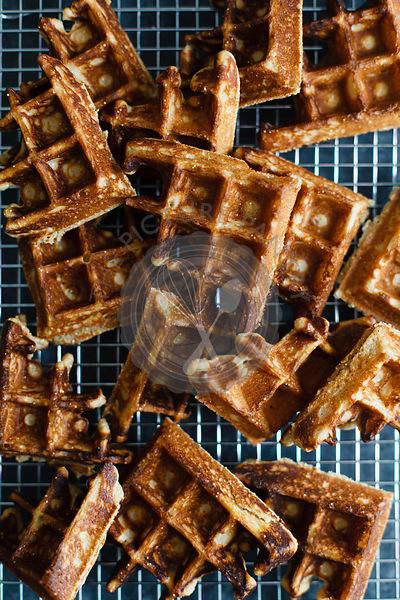 Waffles on a cooling rack