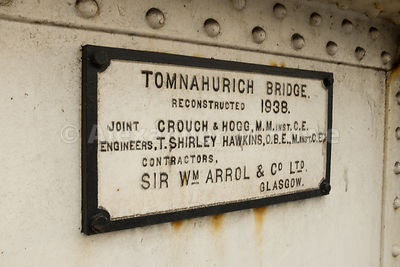 Plaque on the Tomnahurich Bridge over the Caledonian Canal in Inverness