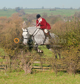 Rowan Cope with The Pytchley Hunt the Cottesmore country.