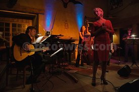 Mi Cosmo Tango and Alexandra Prusa performs at the Saint Moritz Dracula Club