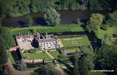 aerial photograph of Mannington Hall Norfolk England UK