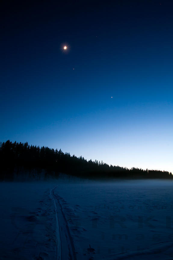 Moon, Jupiter, Venus & Sledge´s Track