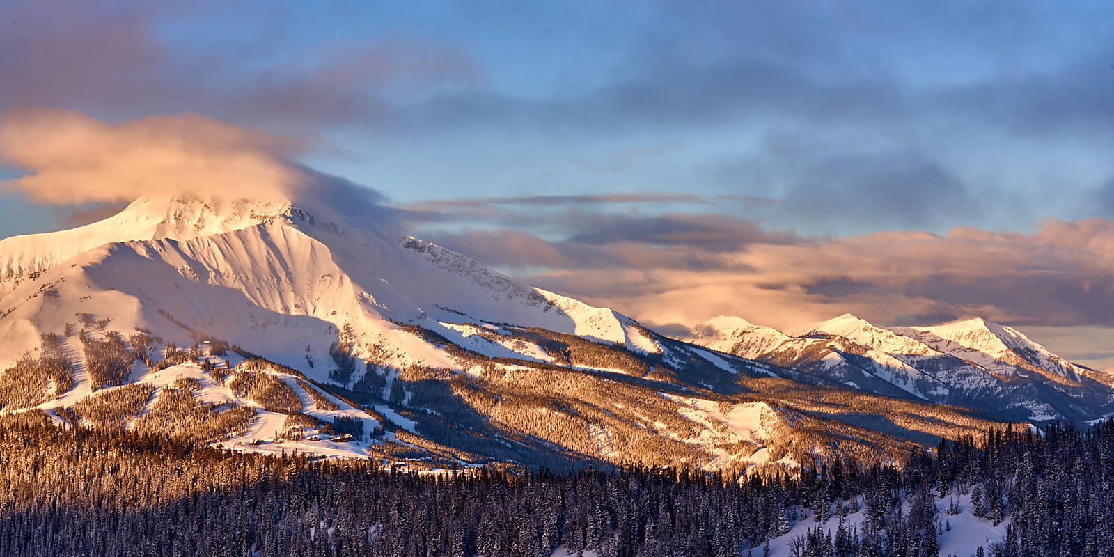Lone Peak Sunrise Panorama