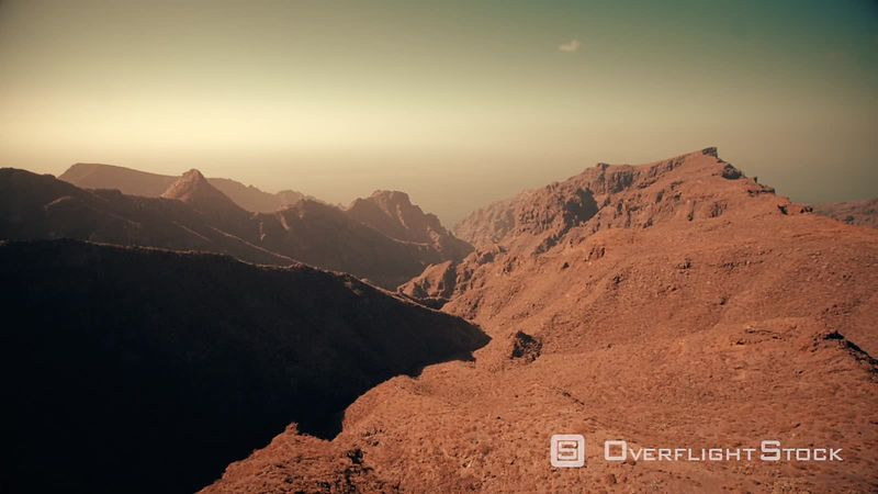 Mountains and sea near Masca, Tenerife, filmed by drone, Canary Islands