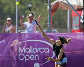 Julia Goerges (GER) and Xenia Knoll (SUI) wining against Sabine Lisicki (GER) and Eugenie Bouchard (CAN) the first round at the Mallorca Open 2017 in Santa Ponsa - Mallorca