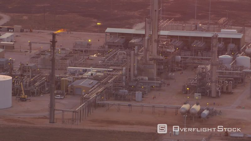 Aerial view of oil refinery in Texas