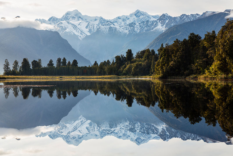 Sunrise at Lake Matheson