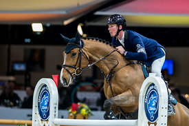 Zurich, Switzerland, 26.1.2018, Sport, Reitsport, Mercedes-Benz CSI Zurich - Longines Grand Prix. Bild zeigt Alain JUFER (SUI) riding RAHMANNSHOF TIC TAC...26/01/18, Zurich, Switzerland, Sport, Equestrian sport Mercedes-Benz CSI Zurich - Longines Grand Prix. Image shows Alain JUFER (SUI) riding RAHMANNSHOF TIC TAC.