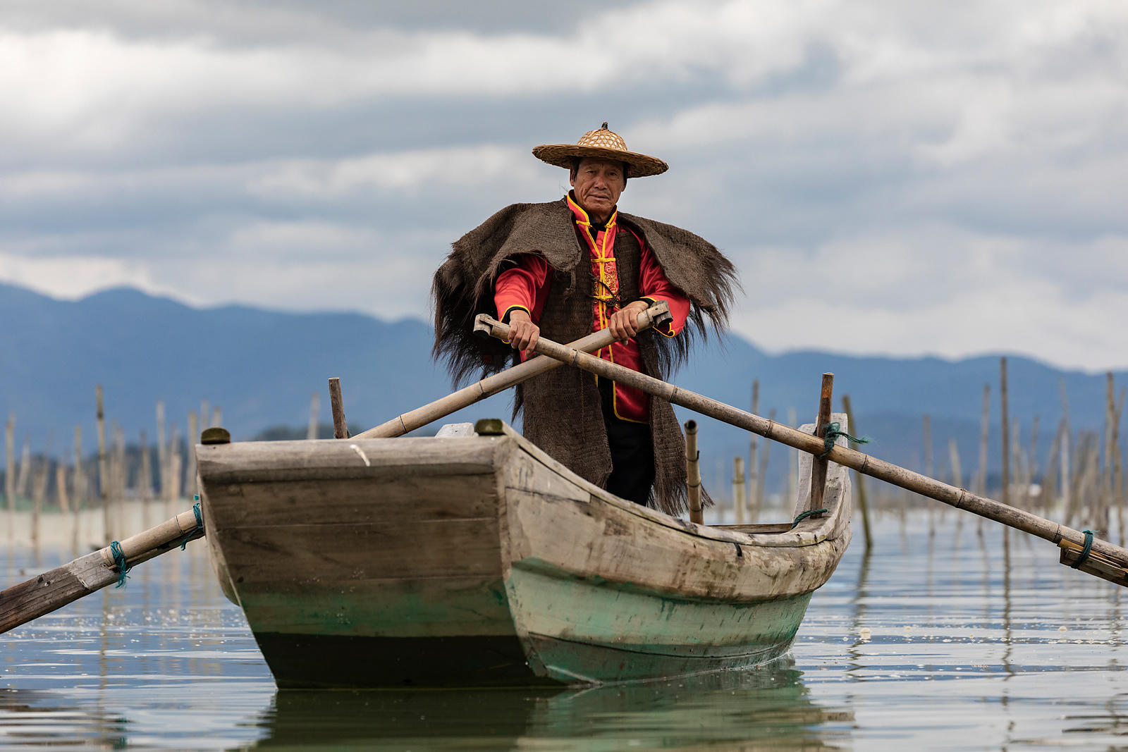 Fisherman Wearing a Traditional Outfit