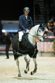 Bordeaux, France, 3.2.2018, Sport, Reitsport, Jumping International de Bordeaux - Prix HOTEL BURDIGALA .Trophée BORDEAUX METROPOLE. Bild zeigt Felix HASSMANN (GER) riding SL Brazonado...3/02/18, Bordeaux, France, Sport, Equestrian sport Jumping International de Bordeaux - Prix HOTEL BURDIGALA .Trophée BORDEAUX METROPOLE. Image shows Felix HASSMANN (GER) riding SL Brazonado.