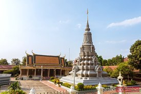 Stupa in the silver pagoda compound, Phnom Penh, Cambodia