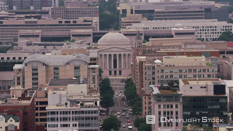Washington, D.C. Aerial view of National Gallery of Art.  Shot with Cineflex and RED EpicW Helium.