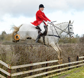 Nicholas Leeming jumping a fence at Burrough House