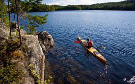 Kayak Paddling on Isojärvi
