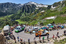 Publicity Caravan in Pyrenees Mountains