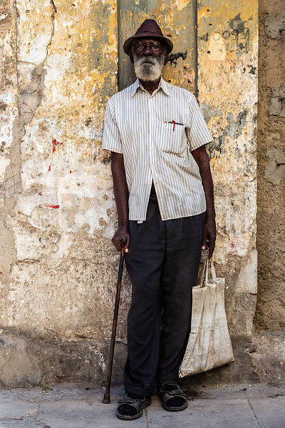 Portrait of an Elderly Man in Havana