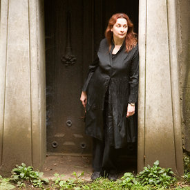 UK - London - Novelist Audrey Niffenegger in Highgate Cemetery