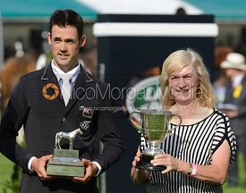 Jonathan Paget and Frances Stead, owner of CLIFTON PROMISE, Burghley Horse Trials 2014.