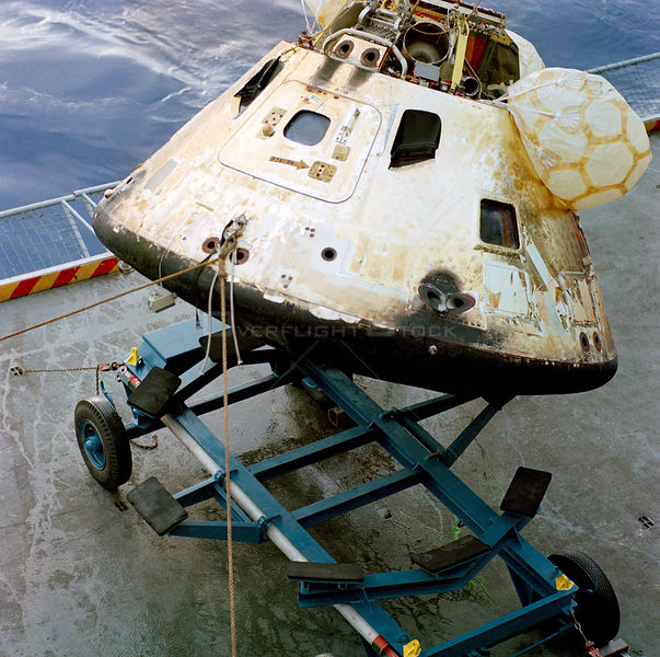 Recovery activities of the Apollo 8 Crew and Command Module (CM)-103 Spacecraft inspection onboard the USS Yorktown. USS YORKTOWN