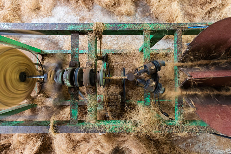 Machine used for Winding Strands of Coir Rope Together to make Thicker Rope