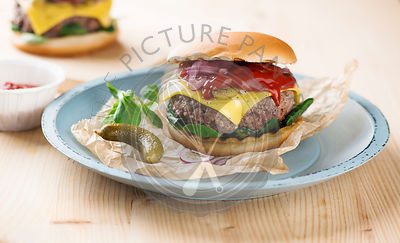Beef burger with melted cheese