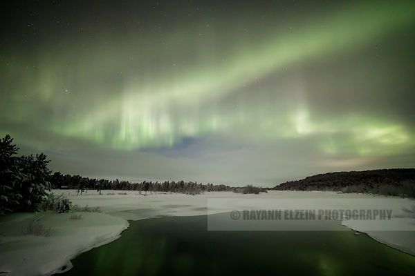 The Aurora fill the sky near Inari