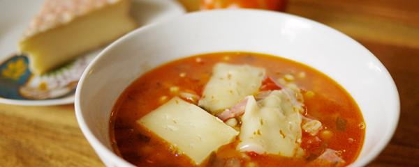 Soupe aux tomates et au Le D'Iberville