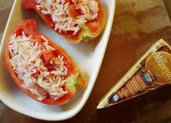 Tomate farcie et gratinée