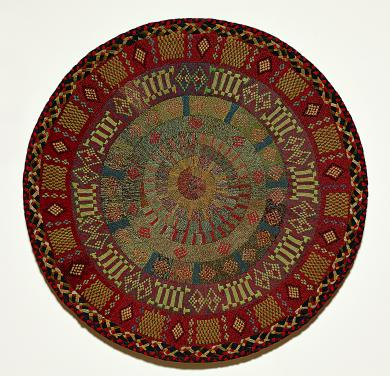 1957.8933.1 - Rug - Rug attributed to Sister Elvira Hulett, Hancock, MA