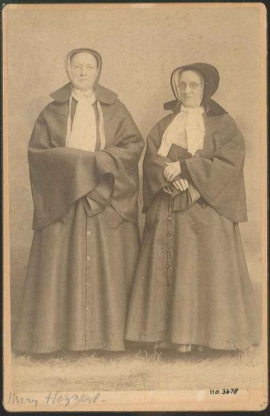 Portrait of Sisters Mary Hazzard and Anna Dodgson