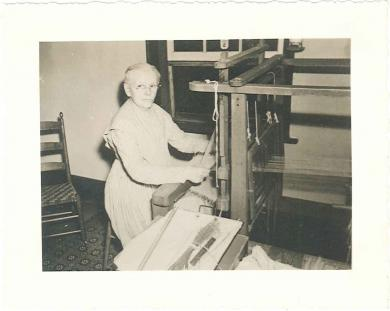 [Sister Jennie Wells Working at a Loom]