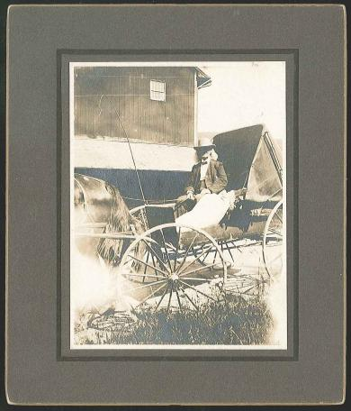 [Brother Robert Valentine Seated in a Buggy]