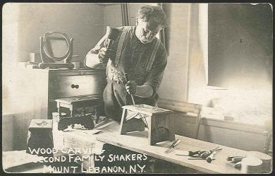 Woodcarving, South Family shakers, Mount Lebanon N.Y.