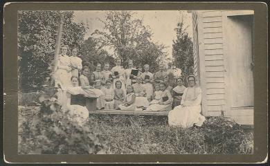 Group of Schoolgirls with Their Teacher, Church Family, Mount Lebanon, NY