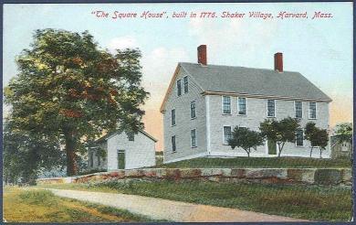 The Square House, Built in 1776. Shaker Village, Harvard, Mass.
