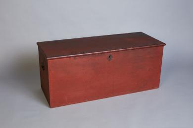 1950.2095.1 - Chest, Tool - Red-painted tool chest, Church Family, Mount Lebanon, NY