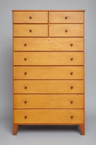 1950.554.1 - Chest of Drawers - Yellow washed chest of drawers, Mount Lebanon, NY