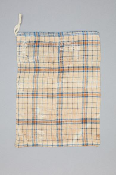 Bag made from a piece of linen believed to have come from a dress worn by Mother Ann Lee
