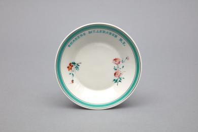 1953.6359.1 - Dish, Dessert - Porcelain dish stamped