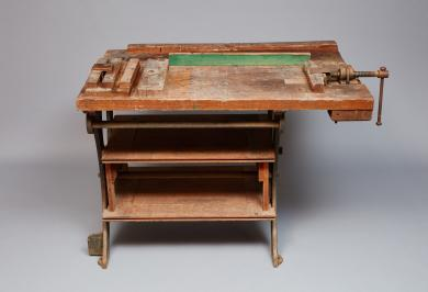 Work bench used by Sister Lillian Barlow, Second Family, Mount Lebanon, NY