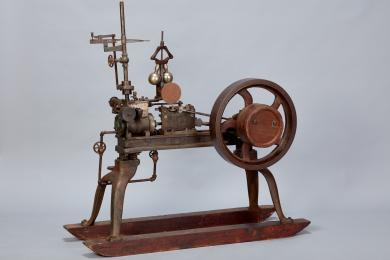 1957.10389.1 - Engine, Steam - Steam engine built by Elder Granville Merrill, Sabbathday Lake, ME