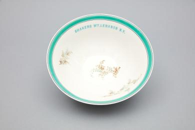 1961.13237.1 - Bowl, Serving - Serving bowl inscribed