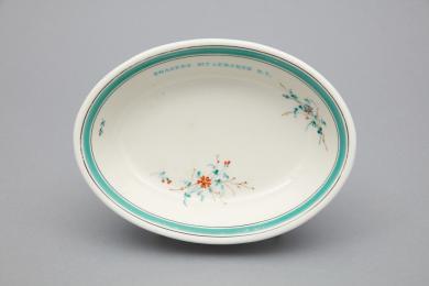 1970.17611.1 - Dish, Serving - Serving dish stamped