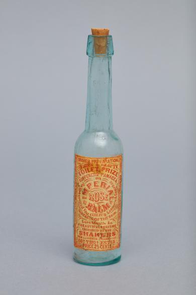 Bottle for Imperial Rose Balm, Church Family, Mount Lebanon, NY