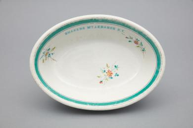 1986.4.1 - Dish, Serving - Serving dish inscribed