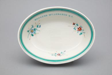 1992.1.11 - Dish, Serving - Serving dish inscribed